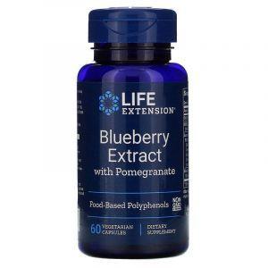 Экстракт голубики с гранатом, Blueberry with Pomegranate, Life Extension, 60 капсул (Default)
