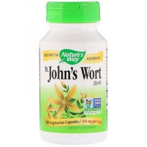 Зверобой, St. John's Wort, Nature's Way, трава, 350 мг, 100 капсул