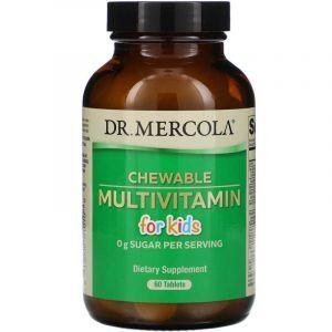 Мультивитамины для детей, Multivitamin for Kids, Dr. Mercola, 60 таблеток