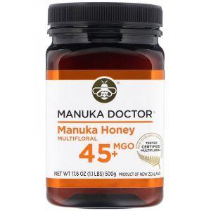 Манука мед, MGO 45+, Manuka Honey, Manuka Doctor, многоцветковый, 500 г