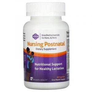 Поливитамины для женщин (после родов), Nursing Postnatal Breastfeeding Multivitamin, Fairhaven Health, 60 капсул