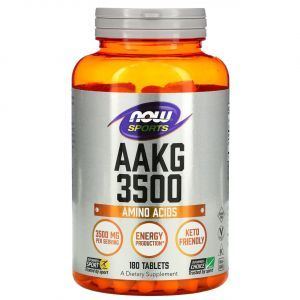 AAKG (L-аргинин-альфа-кетоглутарат), 3500, Now Foods, Sports, 180 таблеток