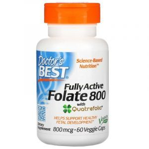 Фолат, Fully Active Folate 800, Doctor's Best, 800 мкг, 60 капсул