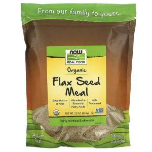 Органическое льняное питание, Now Foods, 624 г