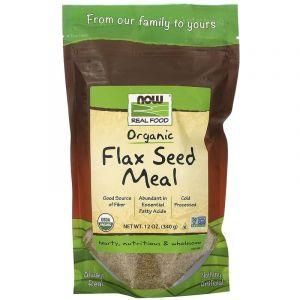 Органическое льняное питание, Now Foods, 340 г