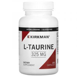 Таурин, L-Taurine, Kirkman Labs, 325 мг, 250 капсул (Default)