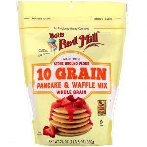 Смесь для блинов и вафель из 10 злаков, Pancake & Waffle Mix, Bob's Red Mill, 737 г