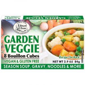 Бульонные кубики, Garden Veggie, Bouillon Cubes, Edward & Sons, 8 кубиков