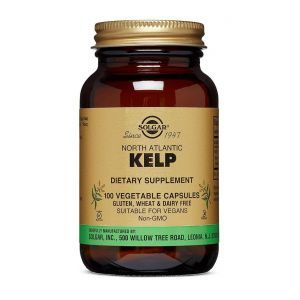 Водоросли, Kelp, Solgar, североатлантические, 100 вегетарианских капсул