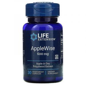 Полифенолы яблочные, AppleWise Polyphenol, Life Extention, экстракт, 600 мг, 30 капсул