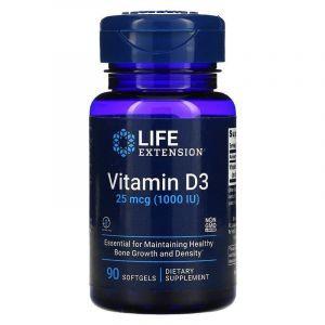 Витамин Д-3, Vitamin D3, Life Extension, 1000 МЕ, 90 капсул (Default)