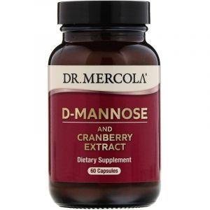 Поддержка почек с клюквой, D-Mannose and Cranberry, Dr. Mercola, 60 капсул (Default)