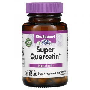 Кверцетин , Super Quercetin, Bluebonnet Nutrition, 30 вегетарианских капсул