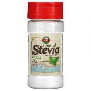 Экстракт стевии, Stevia, KAL, натуральный, 40 г