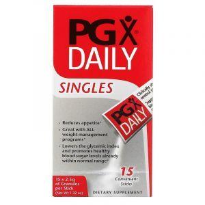 PGX (полигликомплекс), PGX Daily, Natural Factors, 15 стиков по 2.5 г