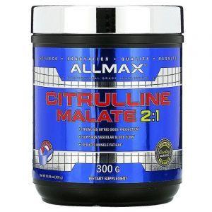 Цитруллин малат, Citrulline Malate, ALLMAX Nutrition, без ароматизаторов, 300 г