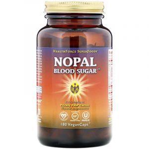 Нопал кактус, Nopal Blood Sugar, HealthForce Superfoods, 180 веганских капсул