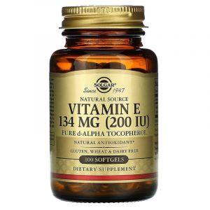 Витамин Е, Solgar, 200 МЕ, 100 капсу