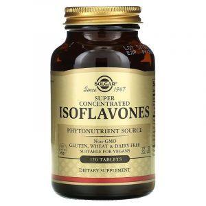 Соевые изофлавоны, Isoflavones, Solgar, суперконцентрированные, 120 таблеток