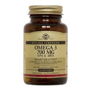 Рыбий жир, Omega-3, Solgar, двойная сила, 700 мг, 30 капсул (Default)