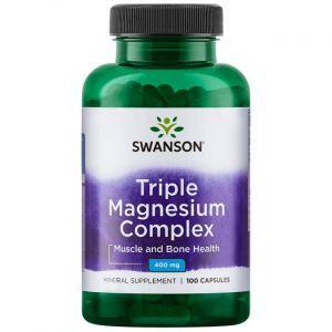 Комплекс магния, Triple Magnesium Complex, Swanson, 400 мг, 100 капсул