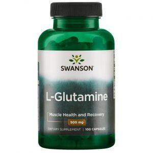 L- глютамин, L-Glutamine, Swanson, 500 мг, 100 капсул