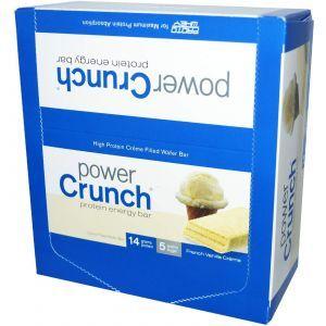 Протеиновые батончики с ванилью, Power Crunch Protein Energ, BNRG, 12 шт (40 г)