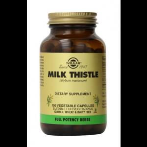 Расторопша (силимарин), Milk Thistle, Solgar, 100 вегетарианских капсул