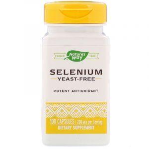Селен, Nature's Way, 200 мкг, 100 капсул