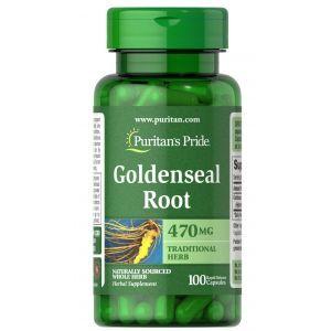 Гидрастис канадский, GoldensealRoot, Puritan's Pride, 470 мг, 100 капсул
