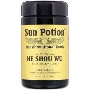 Горец многоцветковый, He Shou Wu, Sun Potion, порошок, 80 г
