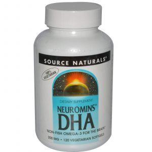 Рыбий жир DHA, 200, Source Naturals, 120 капсул