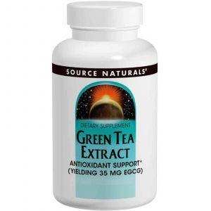 Зеленый чай экстракт, Source Naturals, 60 таб