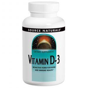 Витамин D3, Source Naturals, 200 капсул