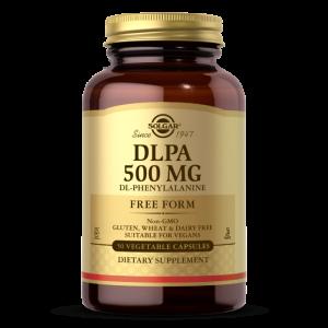 DL-Фенилаланин, DLPA, Solgar, 500 мг, 50 вегетарианских капсул