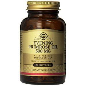 Масло вечерней примулы, Evening Primrose Oil, Solgar, 500 мг, 90 капсул