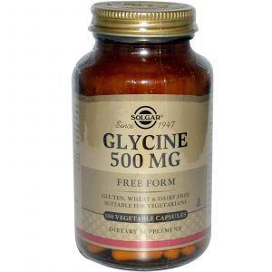 Глицин, Solgar, 500 мг, 100 капсу