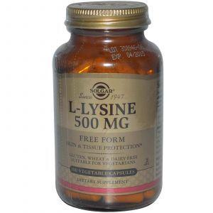 L- лизин, Solgar, 500 мг,100 капсул