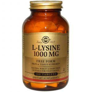 L- лизин, Solgar, 1000 мг, 100 таблето