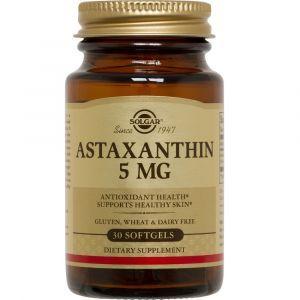 Астаксантин, Astaxanthin, Solgar, 5 мг, 30 гелевых капсул (Default)