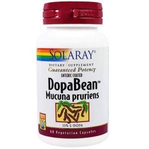 Мукуна жгучая, DopaBean, Solaray, 60 капсул