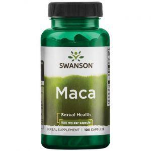 Мака, Maca, Swanson, 500 мг, 100 капсул