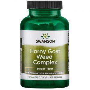 Комплекс горянки, Horny Goat Weed Complex, Swanson, 120 капсул
