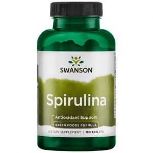 Спирулина, Greens Spirulina, Swanson, 500 мг, 180 таблеток