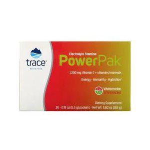 Электролиты со вкусом арбуза, Electrolyte Stamina Power Pak, Trace Minerals Research, 30 пакетов по 5,5 г каждый