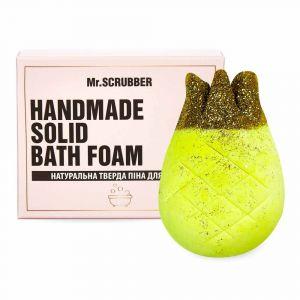 Твердая пена для ванн Ананас, Handmade Solid Bath Foam, Mr. Scrubber, в подарочной коробке, 150 г