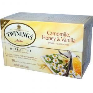 Чай с ромашкой, без кофеина, Herbal Tea, Camomile, Twinings, 20 пакетиков, 32 г