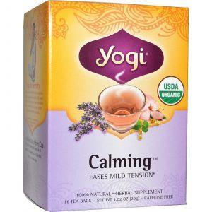 Успокаивающий чай, Calming, Yogi Tea, 16 чайных пакетиков, 29 г