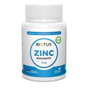 Цинк пиколинат, Zinc Picolinate, Biotus, 15 мг, 60 капсул
