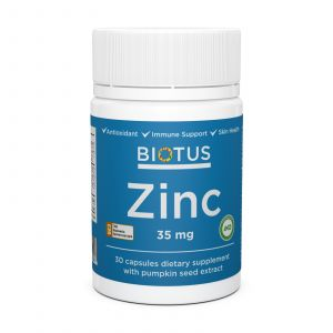 Цинк, Zinc, Biotus, 35 мг, 30 капсул